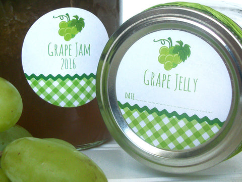 White Grape Jelly & Jam Canning Labels | CanningCrafts.com