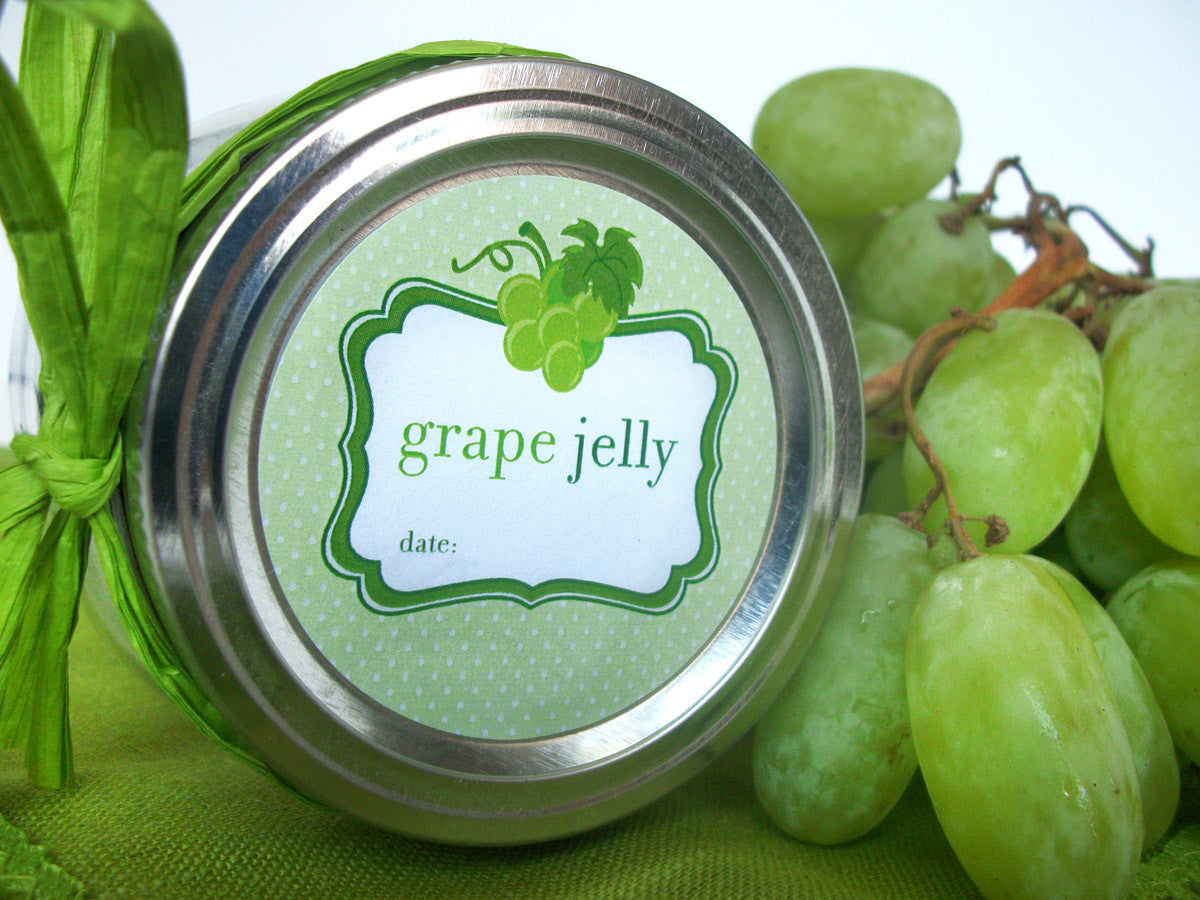 White grape canning label