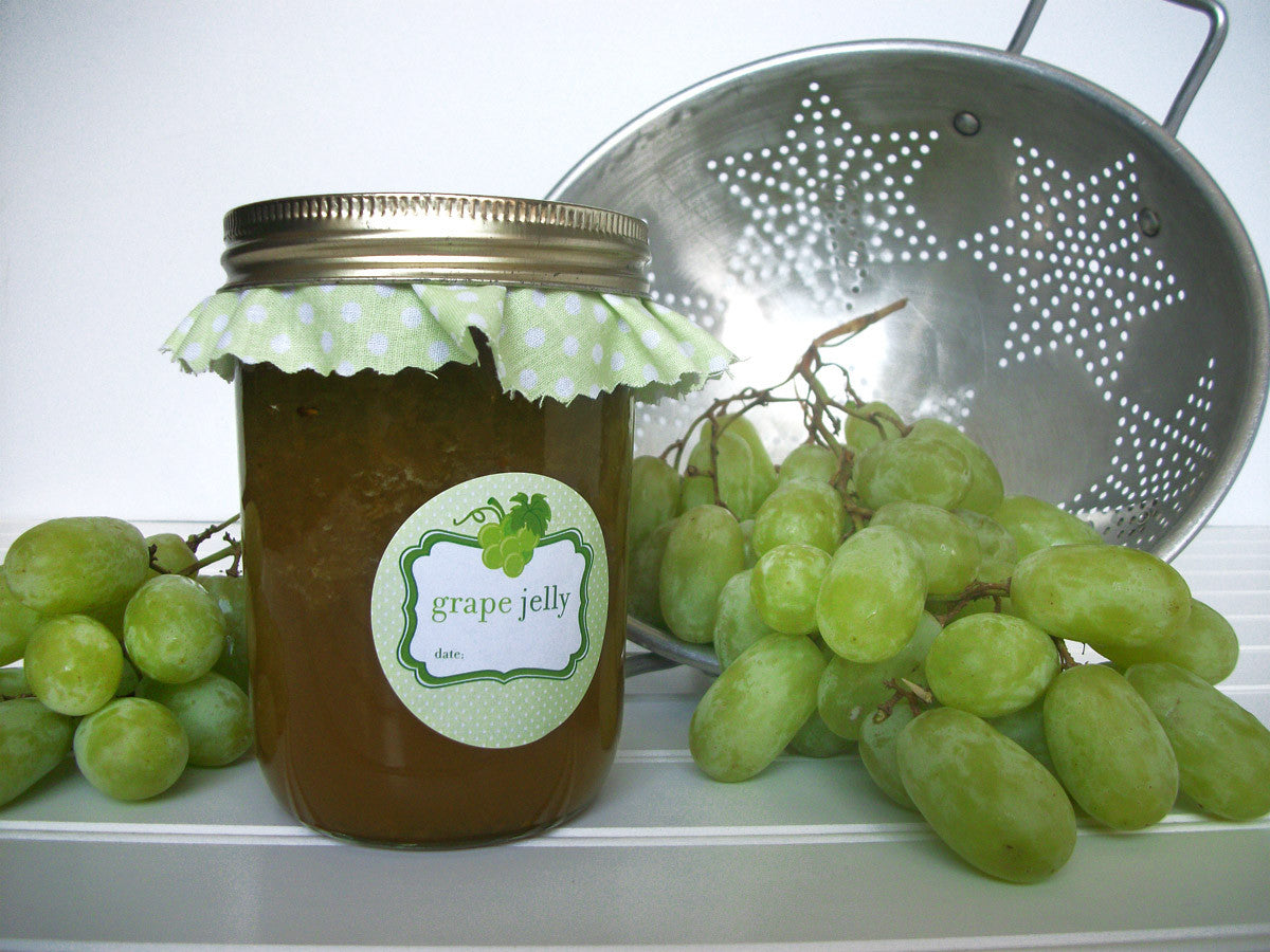 Green grape canning jar label | CanningCrafts.com