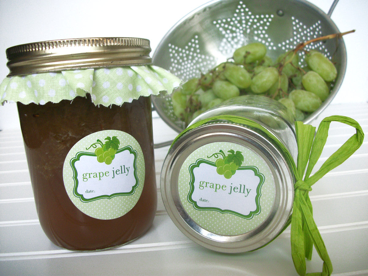 White green grape canning label | CanningCrafts.com