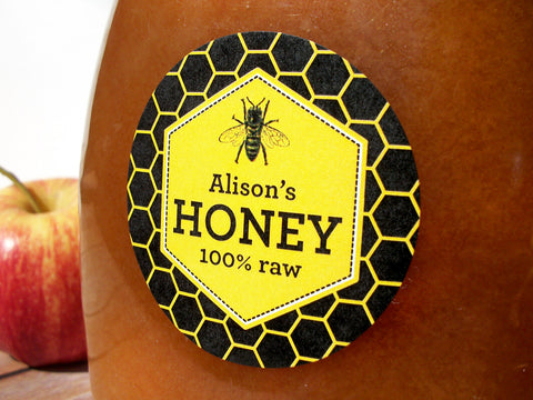 custom beehive honey label for backyard beekeepers | CanningCrafts.com