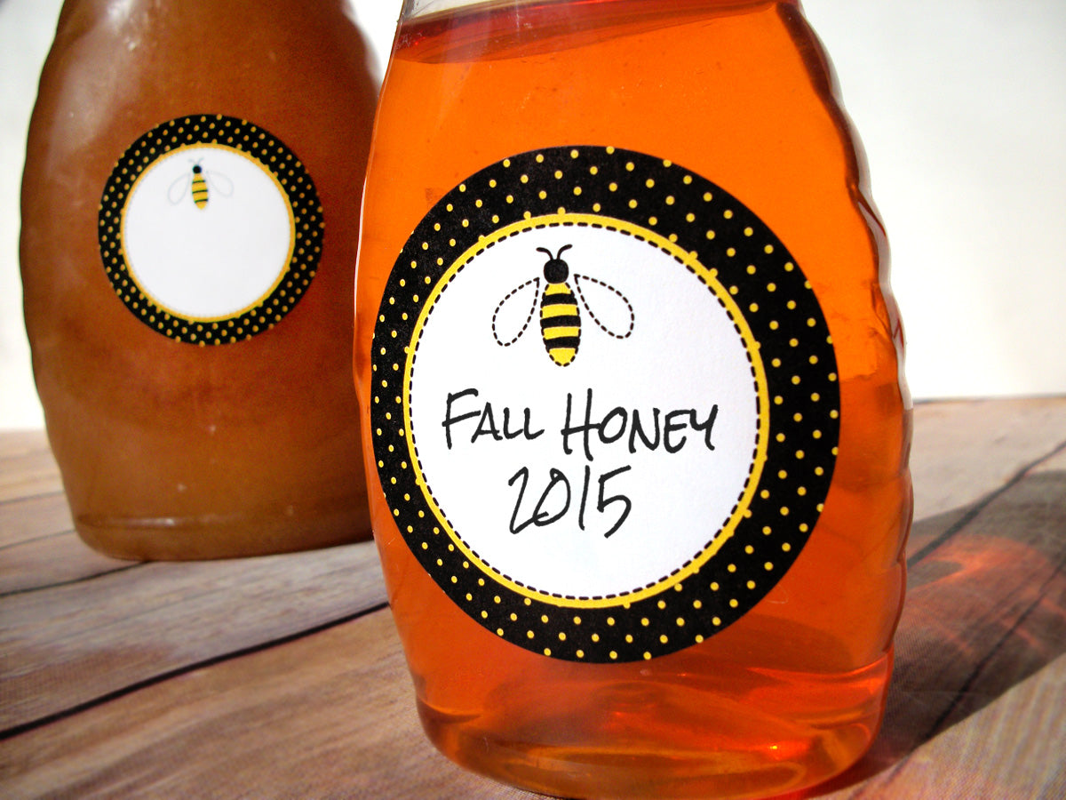 Honey Bee canning jar labels | CanningCrafts.com