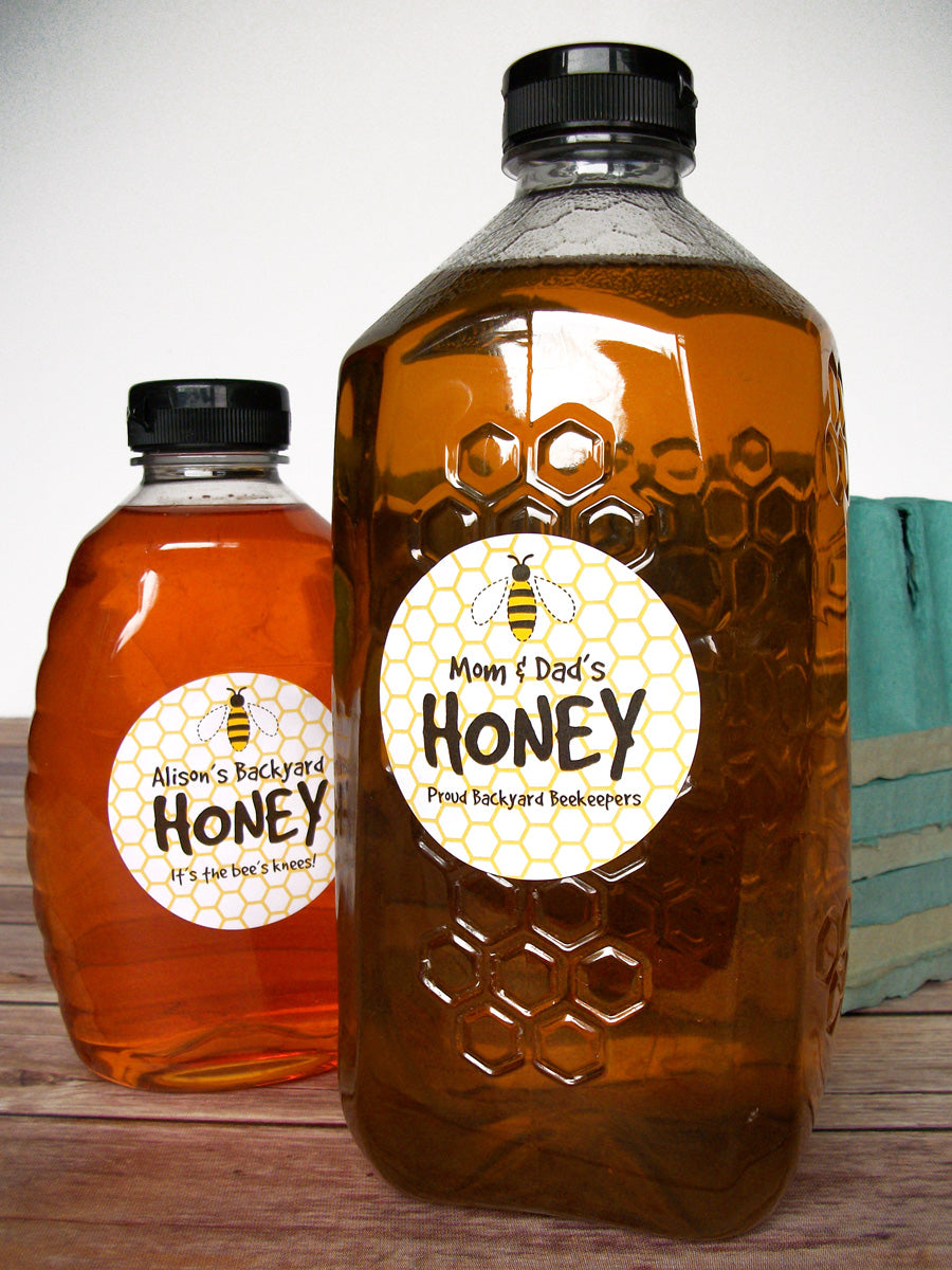 Cute honey bee custom honey bottle labels | CanningCrafts.com