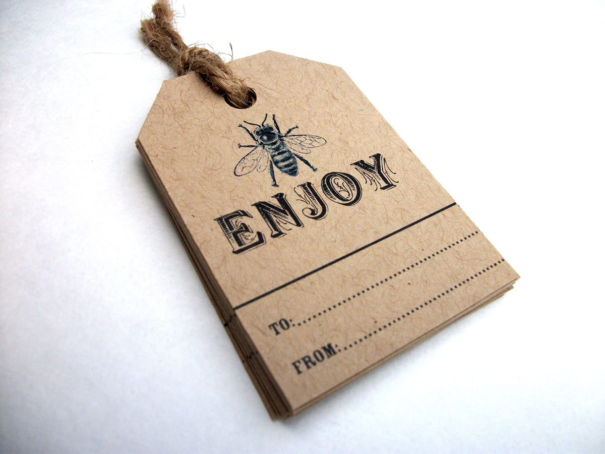 kraft honey bee hang tags | CanningCrafts.com