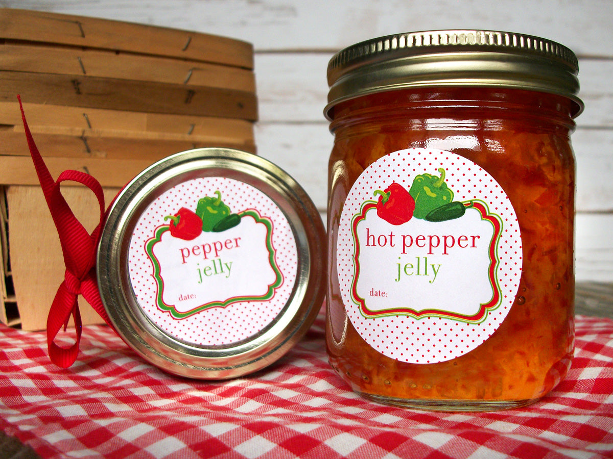 Hot Pepper Jelly Canning Jar Labels | CanningCrafts.com