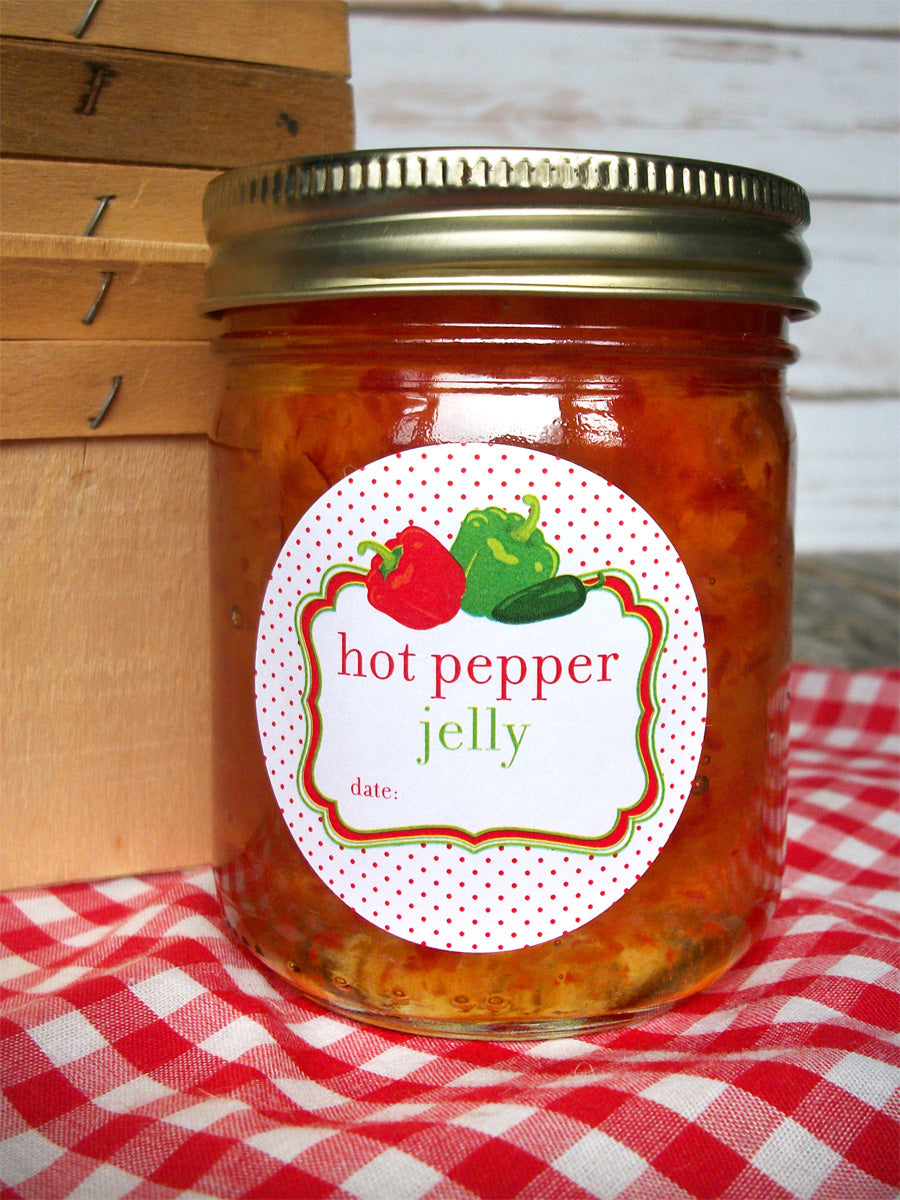 Hot Pepper Jelly Jar Labels | CanningCrafts.com