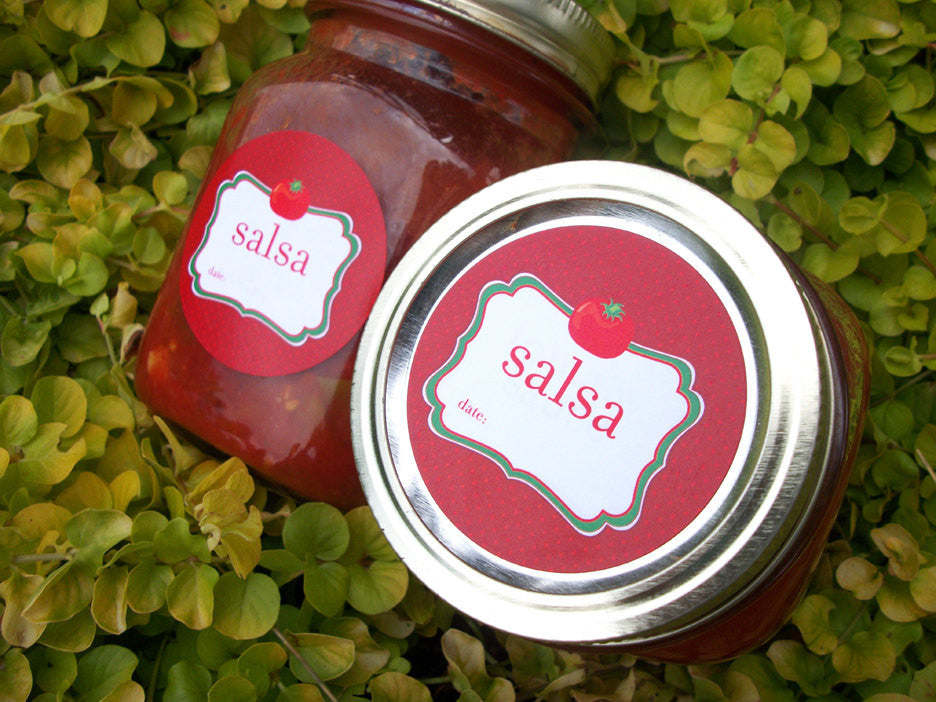 Salsa Canning Labels