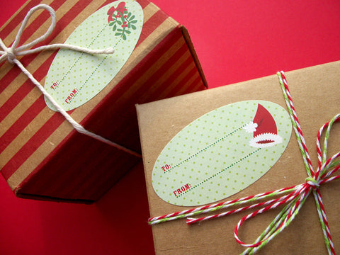 Custom Oval Christmas Labels