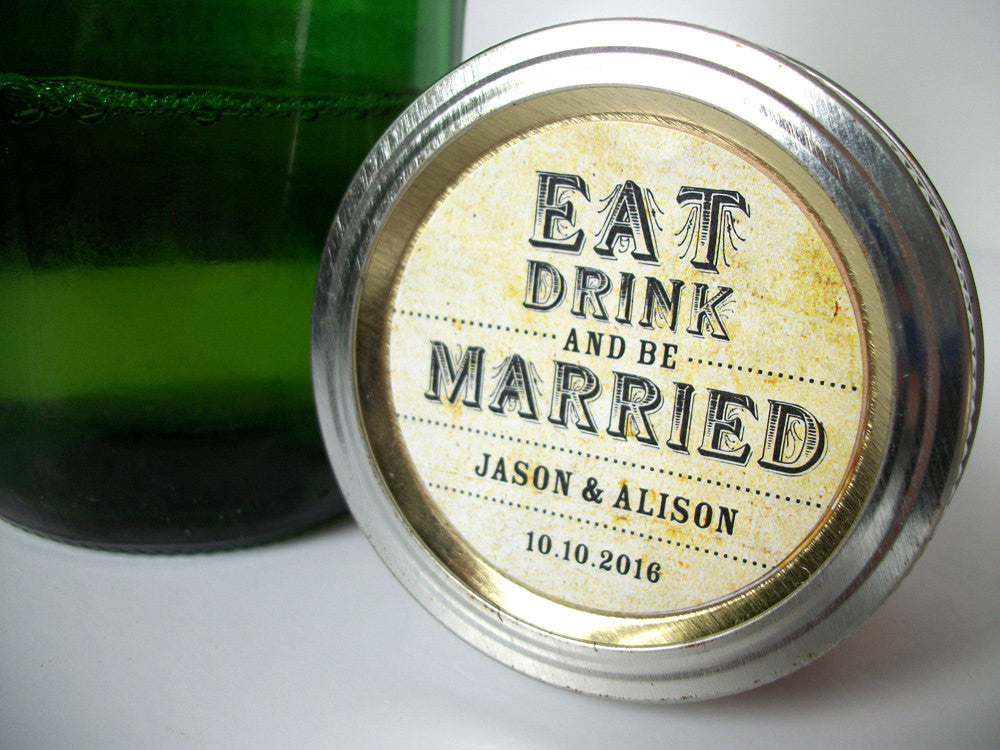 custom wedding label