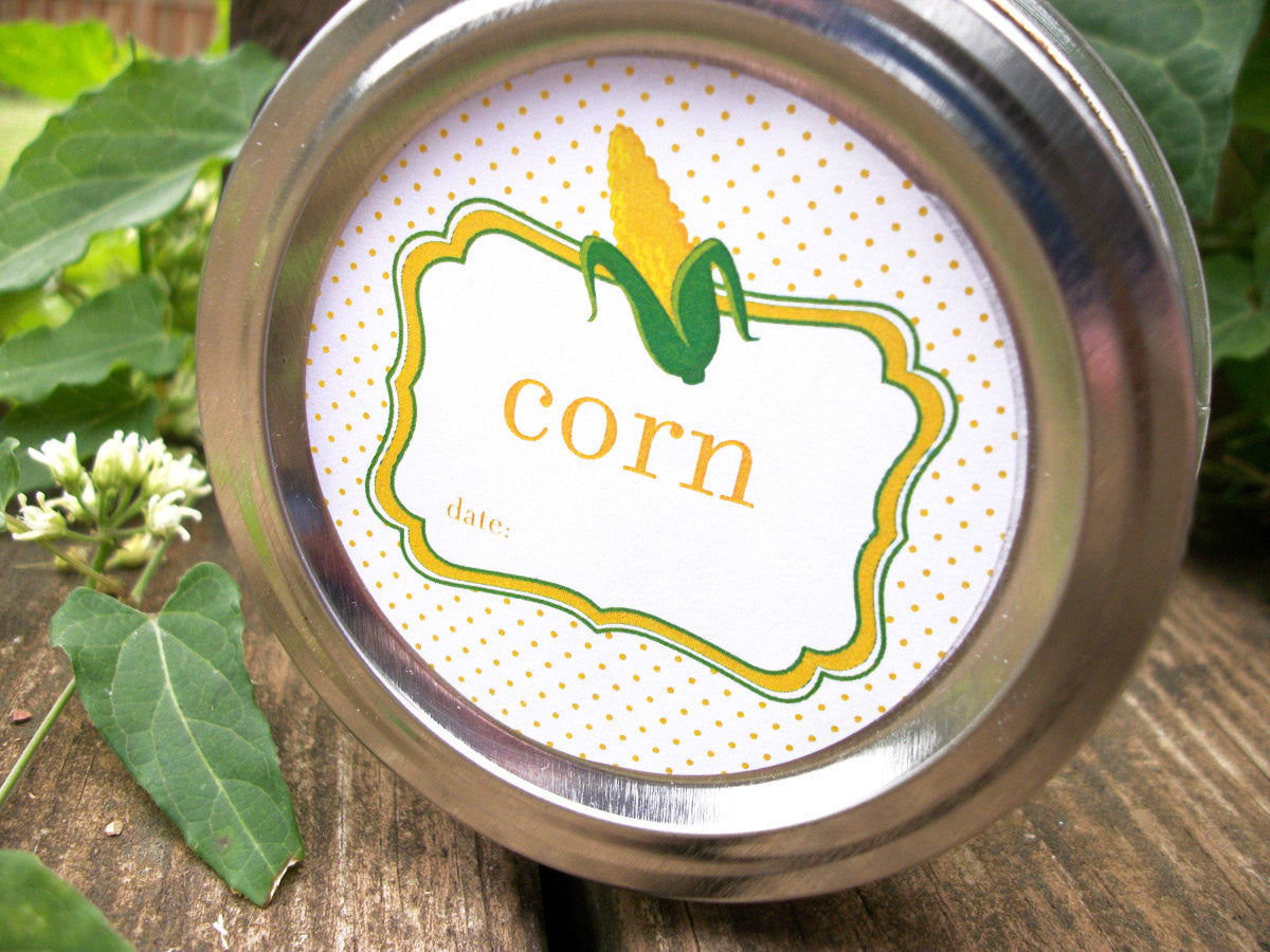 Corn Canning Labels