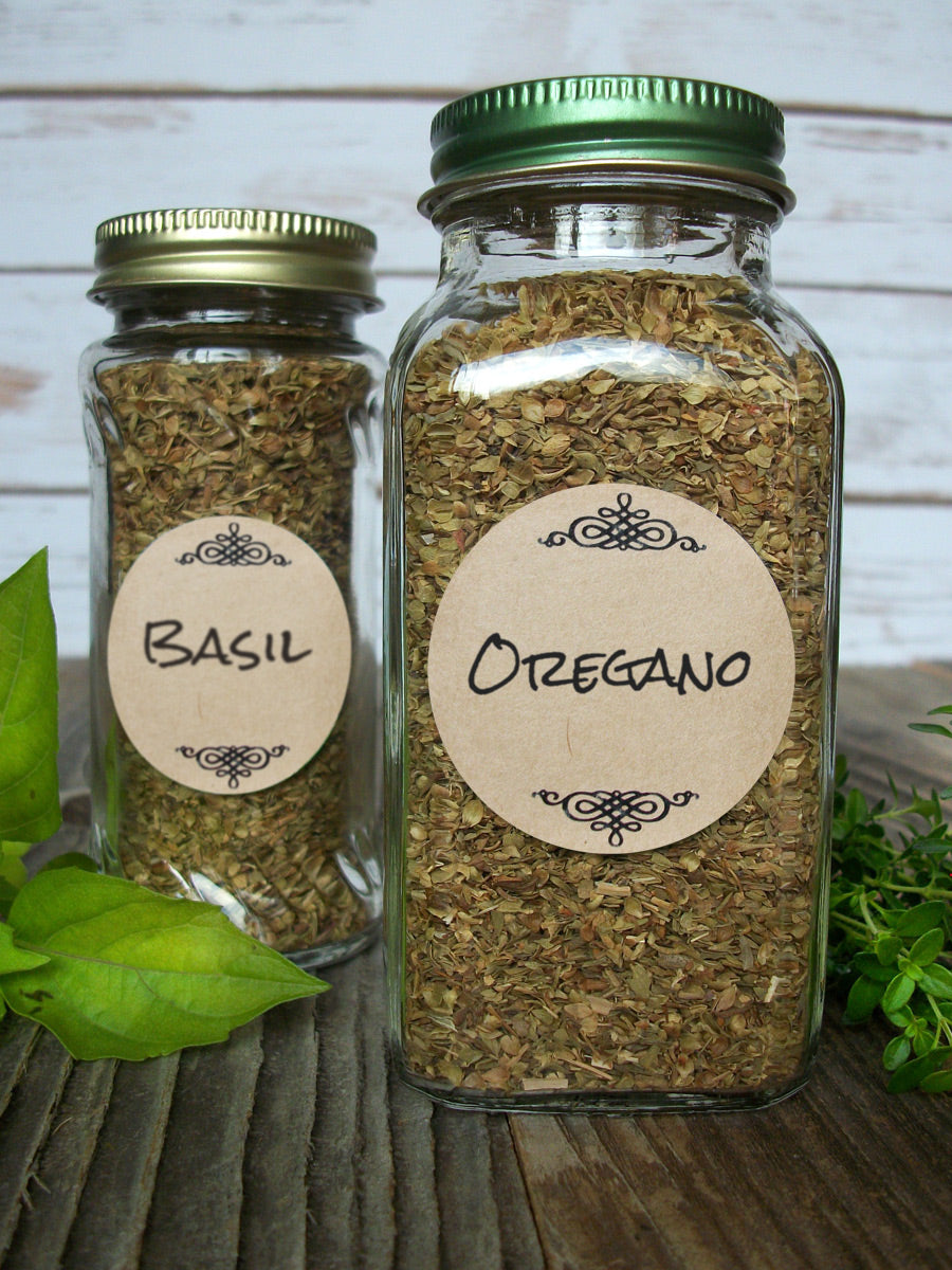 Kraft Paper Herb & Spice Jar Canning Labels | CanningCrafts.com