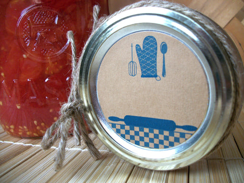 Blue Kraft Kitchen Labels | CanningCrafts.com