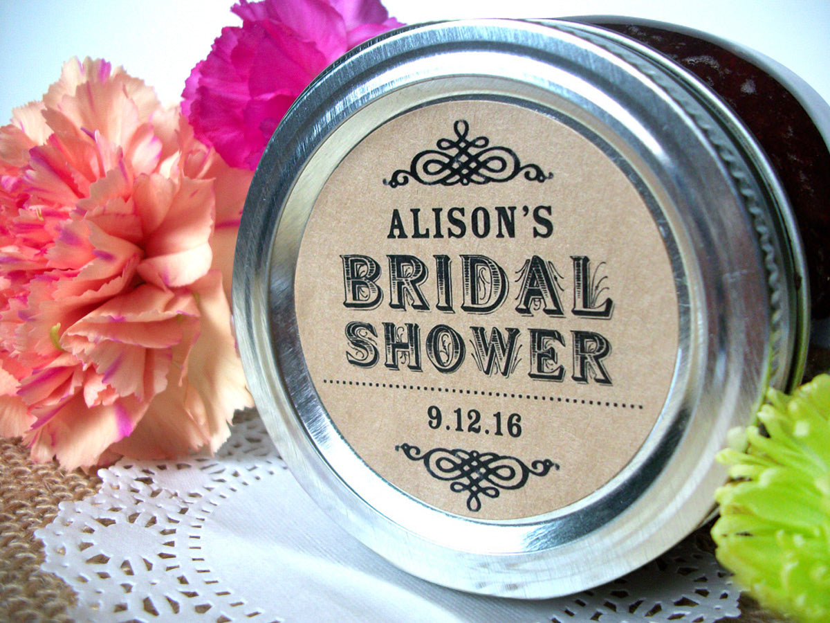 Kraft Bridal Shower Jam Jar Canning Labels | CanningCrafts.com