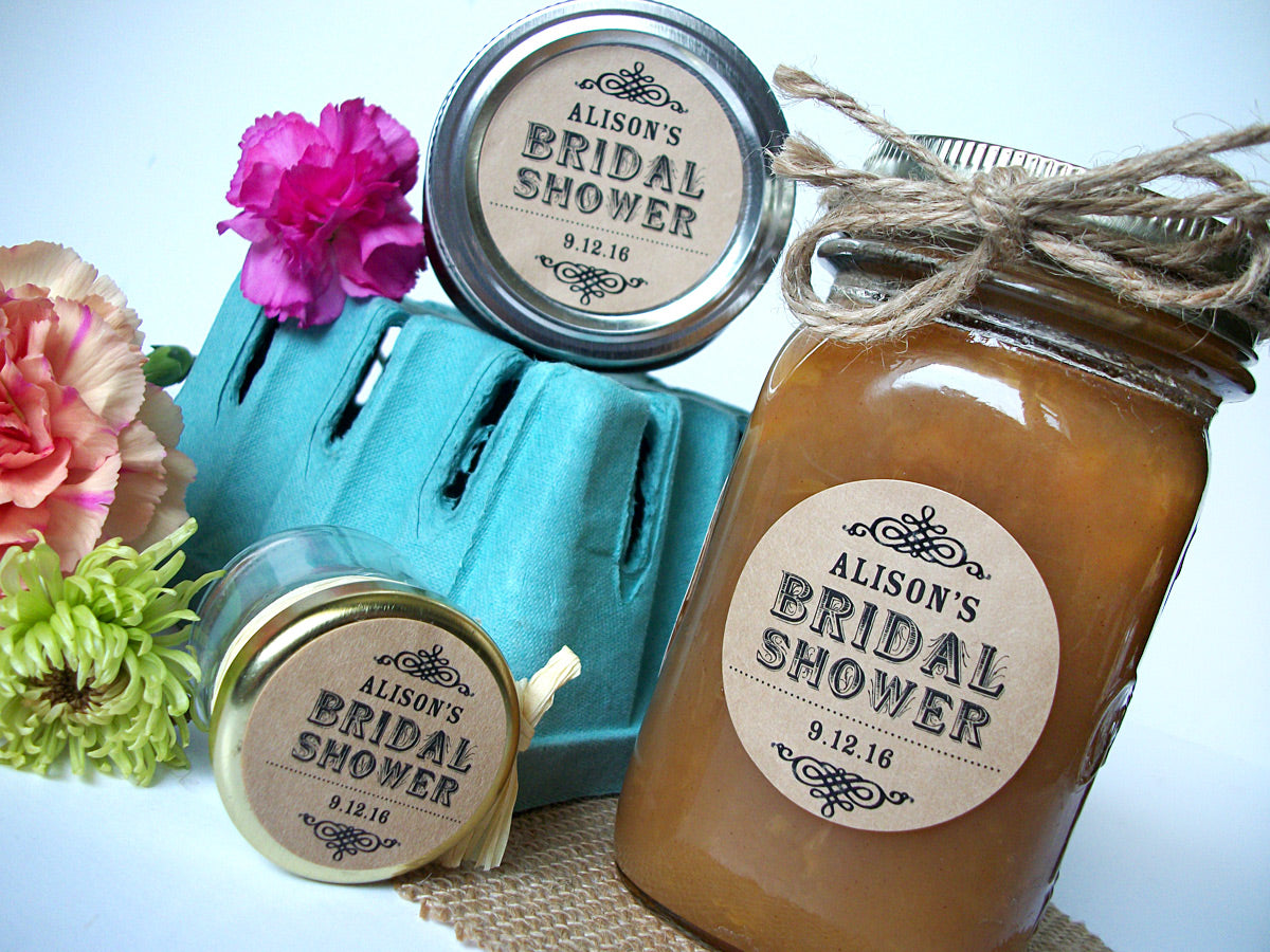 Kraft Bridal Shower Favor Labels | CanningCrafts.com
