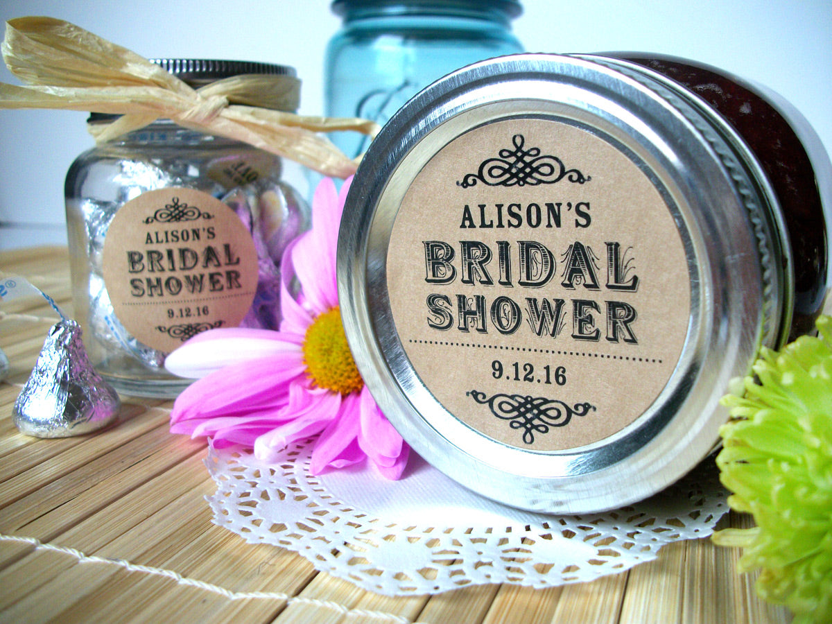 Kraft Bridal Shower Labels | CanningCrafts.com
