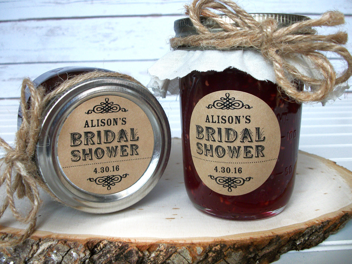 Kraft Bridal Shower Canning Labels | CanningCrafts.com