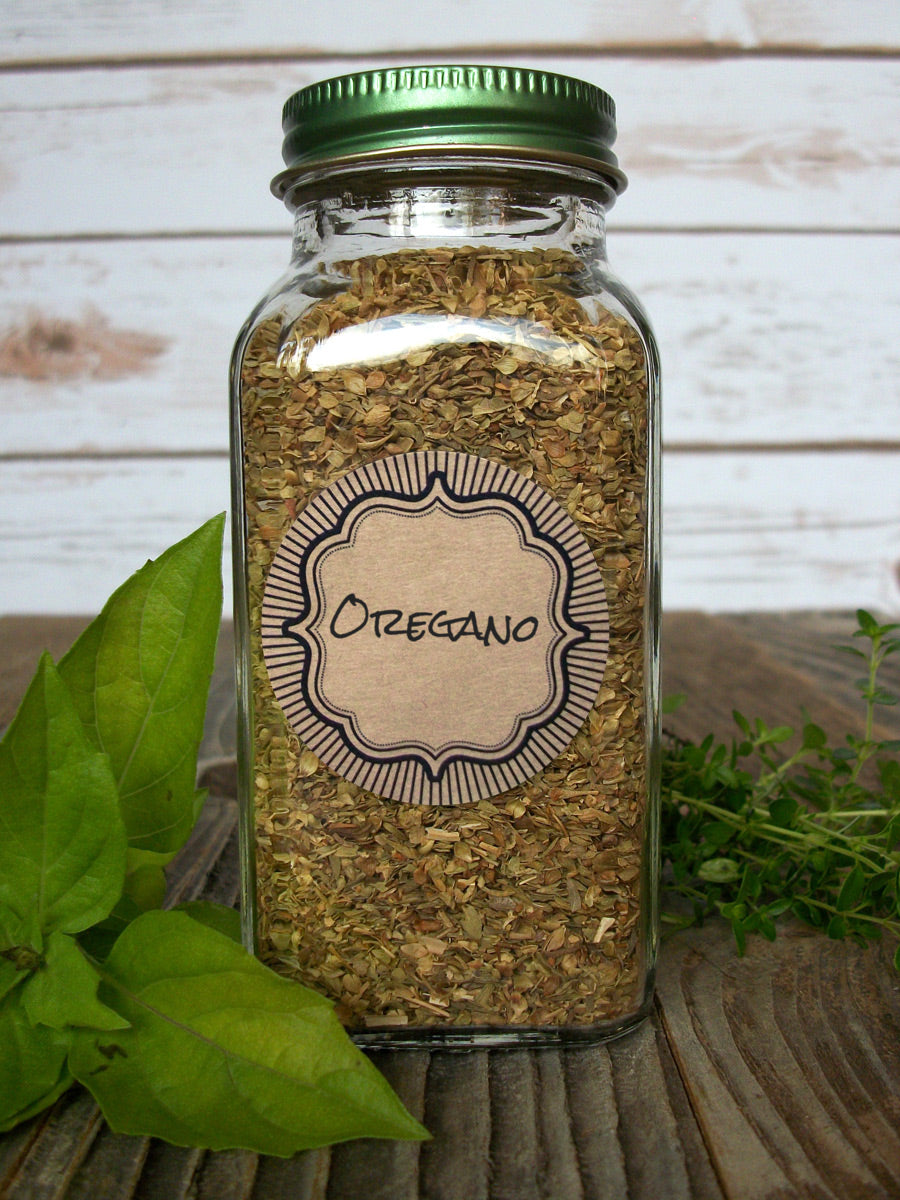 Kraft Burst Herb & Spice Canning Labels | CanningCrafts.com