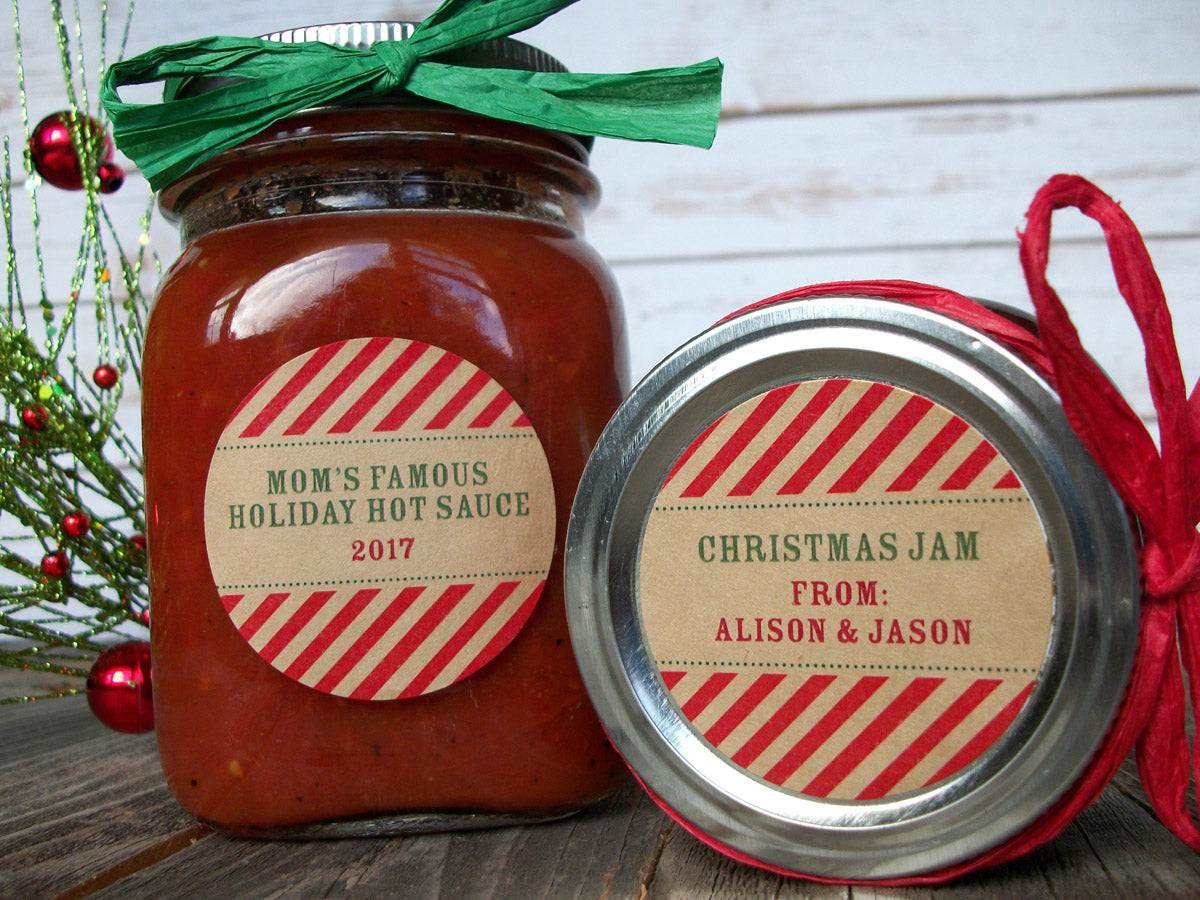 Custom Christmas Canning Jam Jar Labels | CanningCrafts.com
