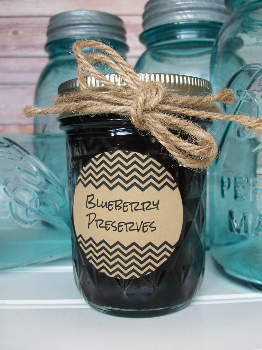 Kraft Chevron Jam & Jelly Jar Labels | CanningCrafts.com