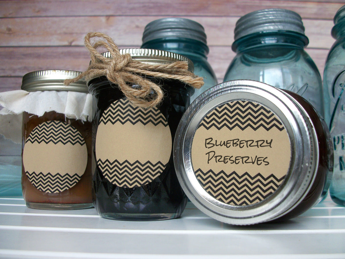 Kraft Chevron Canning Labels | CanningCrafts.com