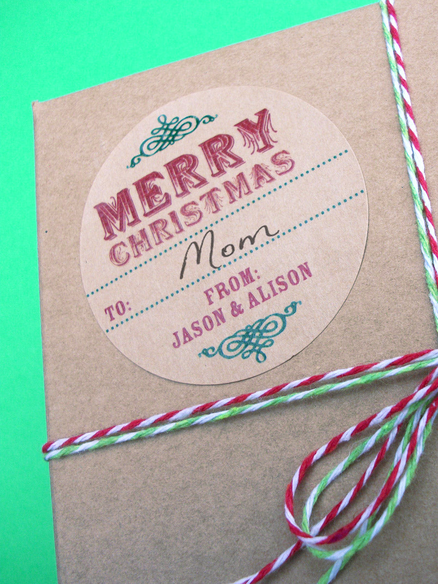 Custom Kraft Christmas Gift Labels | CanningCrafts.com