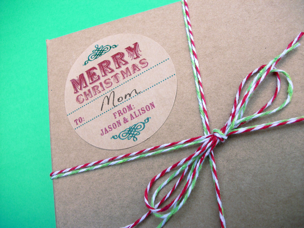 Custom Merry Christmas Gift Labels | CanningCrafts.com