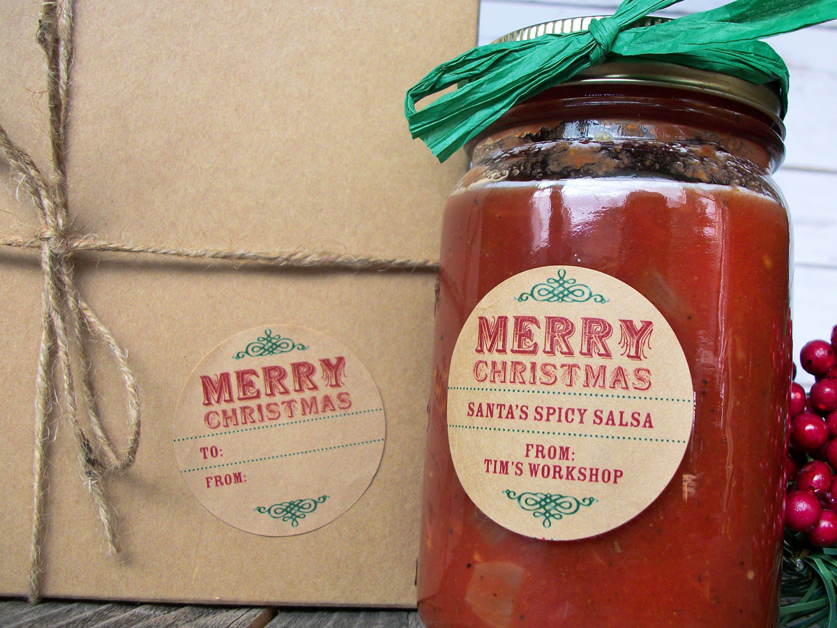 Custom Christmas Canning Labels | CanningCrafts.com