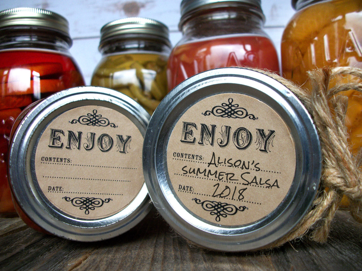 Enjoy Kraft Canning Labels | CanningCrafts.com
