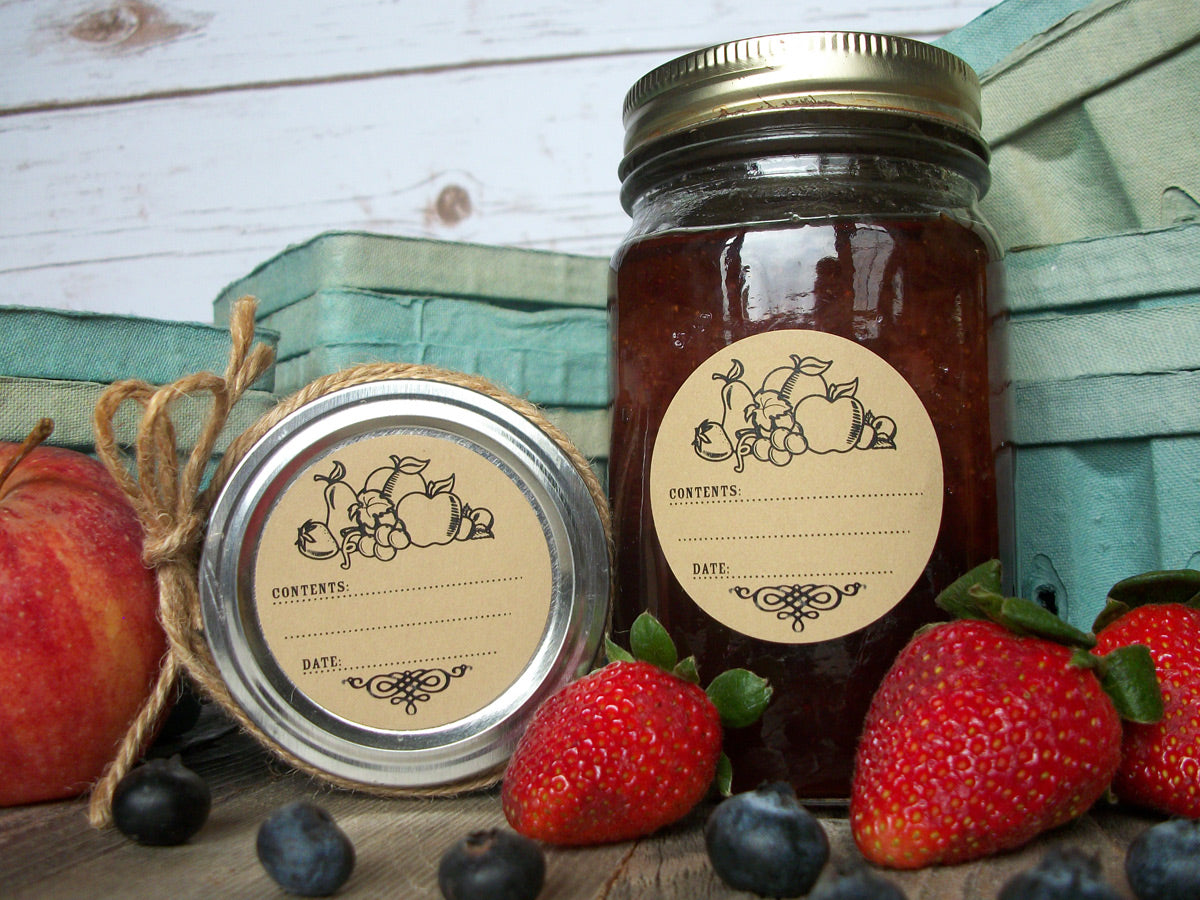 Kraft Fruit Canning Labels | CanningCrafts.com
