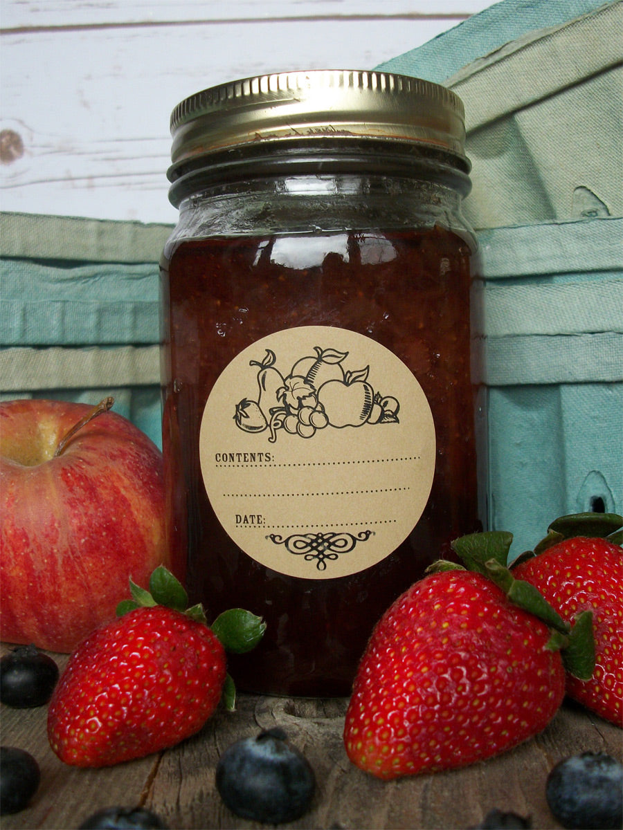 Kraft Fruit Jam & Jelly Jar Labels | CanningCrafts.com