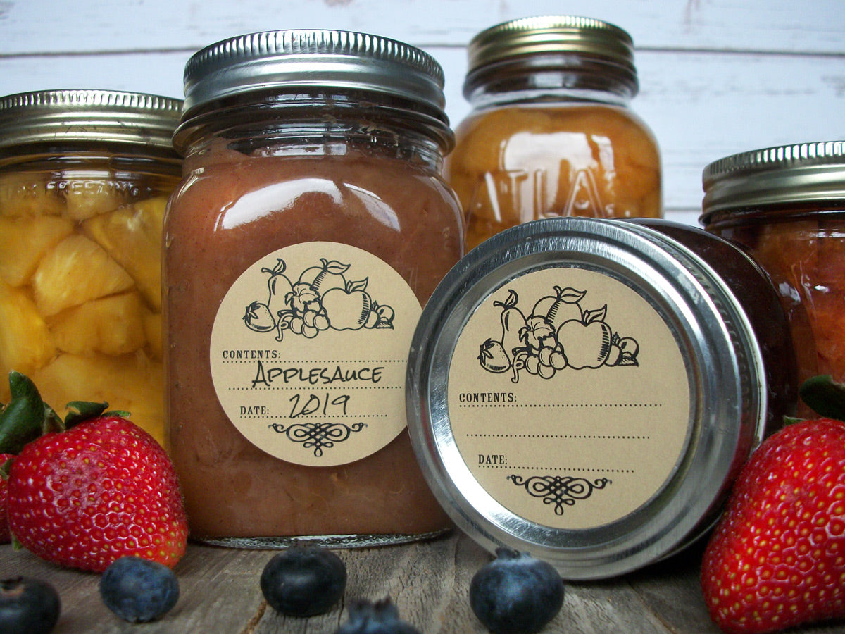 Kraft Fruit Mason Canning Jar Labels | CanningCrafts.com