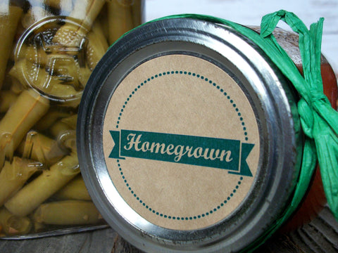 Kraft Homegrown Victory Garden Canning Labels | CanningCrafts.com