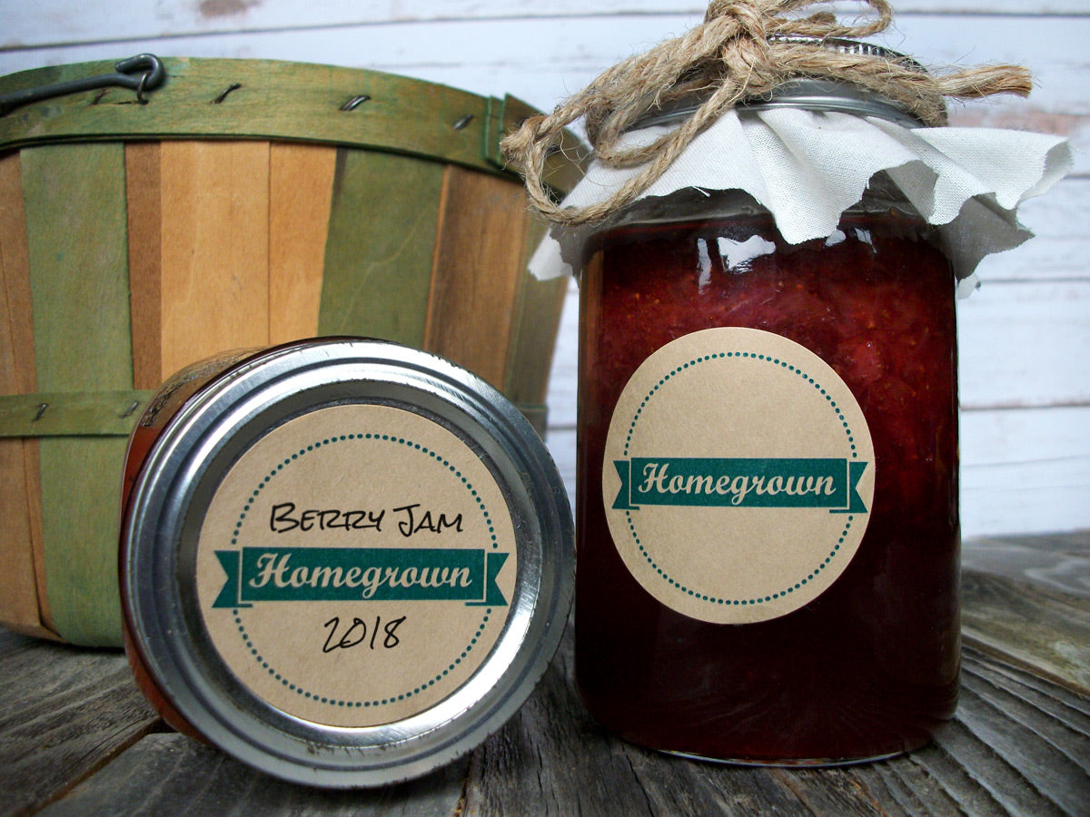 Kraft Homegrown Victory Garden Canning Jar Labels | CanningCrafts.com