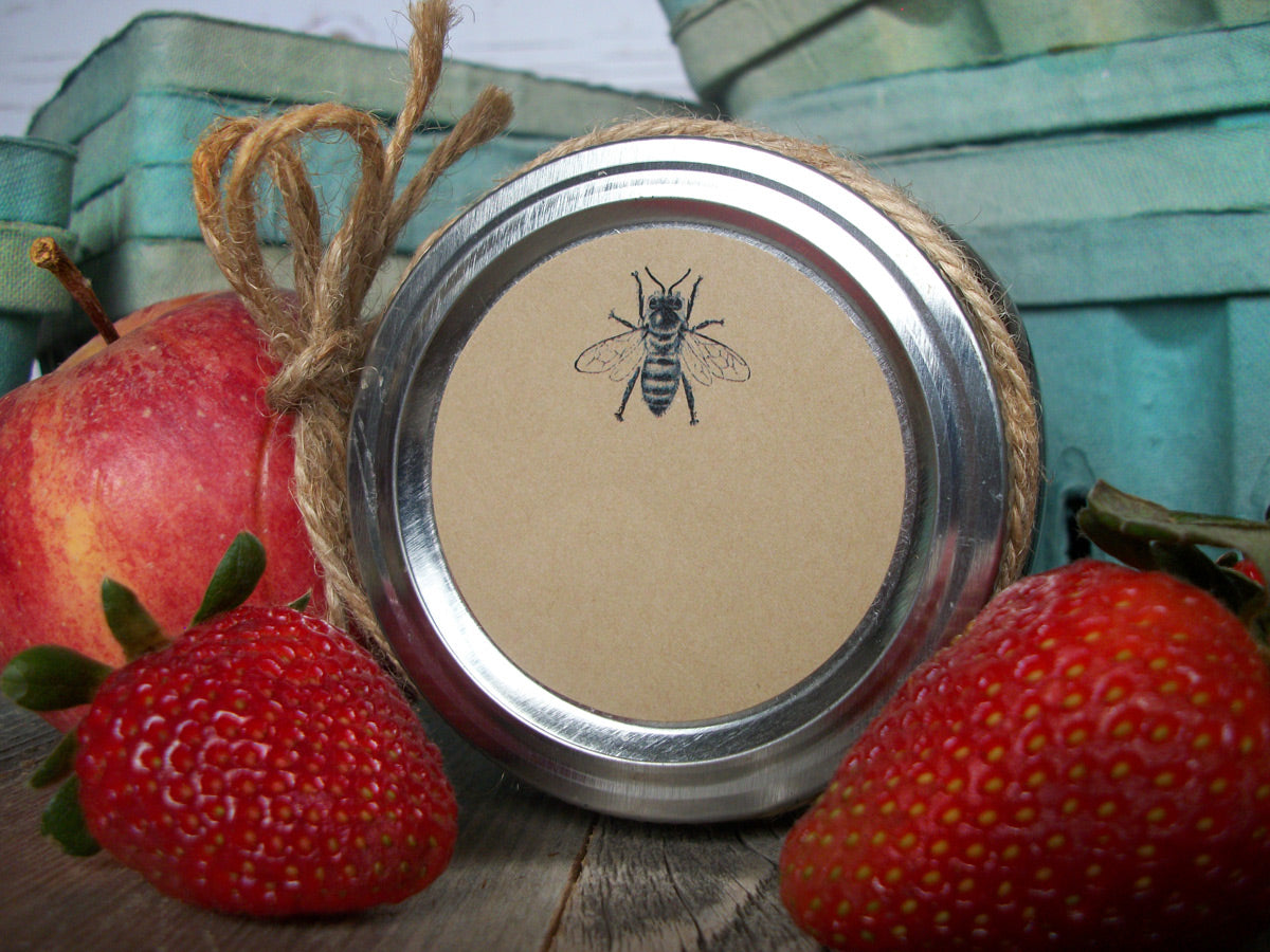 Kraft Honey Bee canning labels | CanningCrafts.com