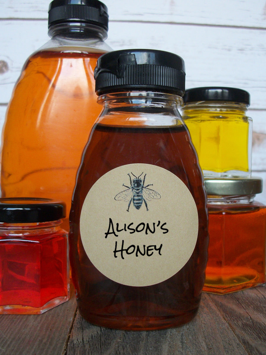 Kraft Honey Bee canning & bottle labels | CanningCrafts.com