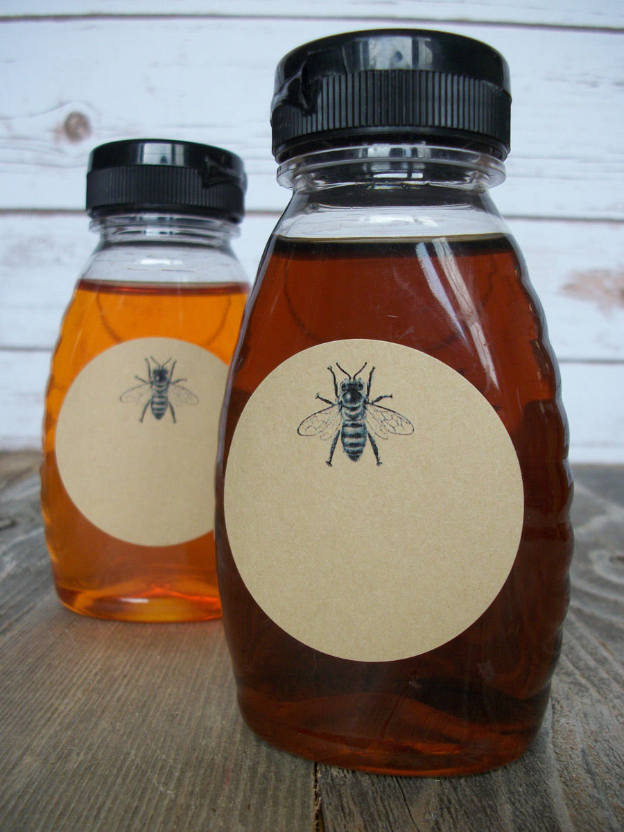 Kraft Honey Bee bottle labels | CanningCrafts.com