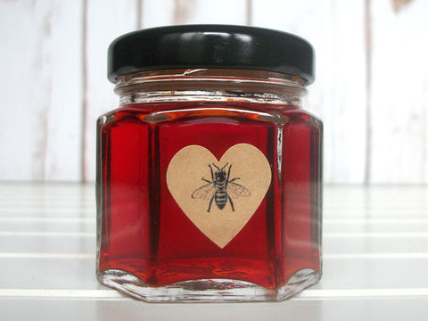 kraft honey bee heart labels | CanningCrafts.com