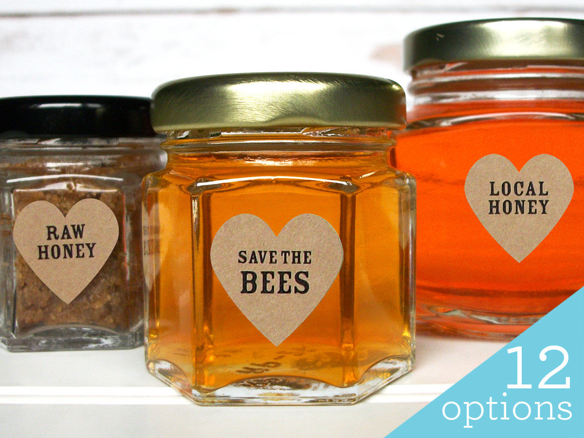 Save the Bees honey labels | CanningCrafts.com