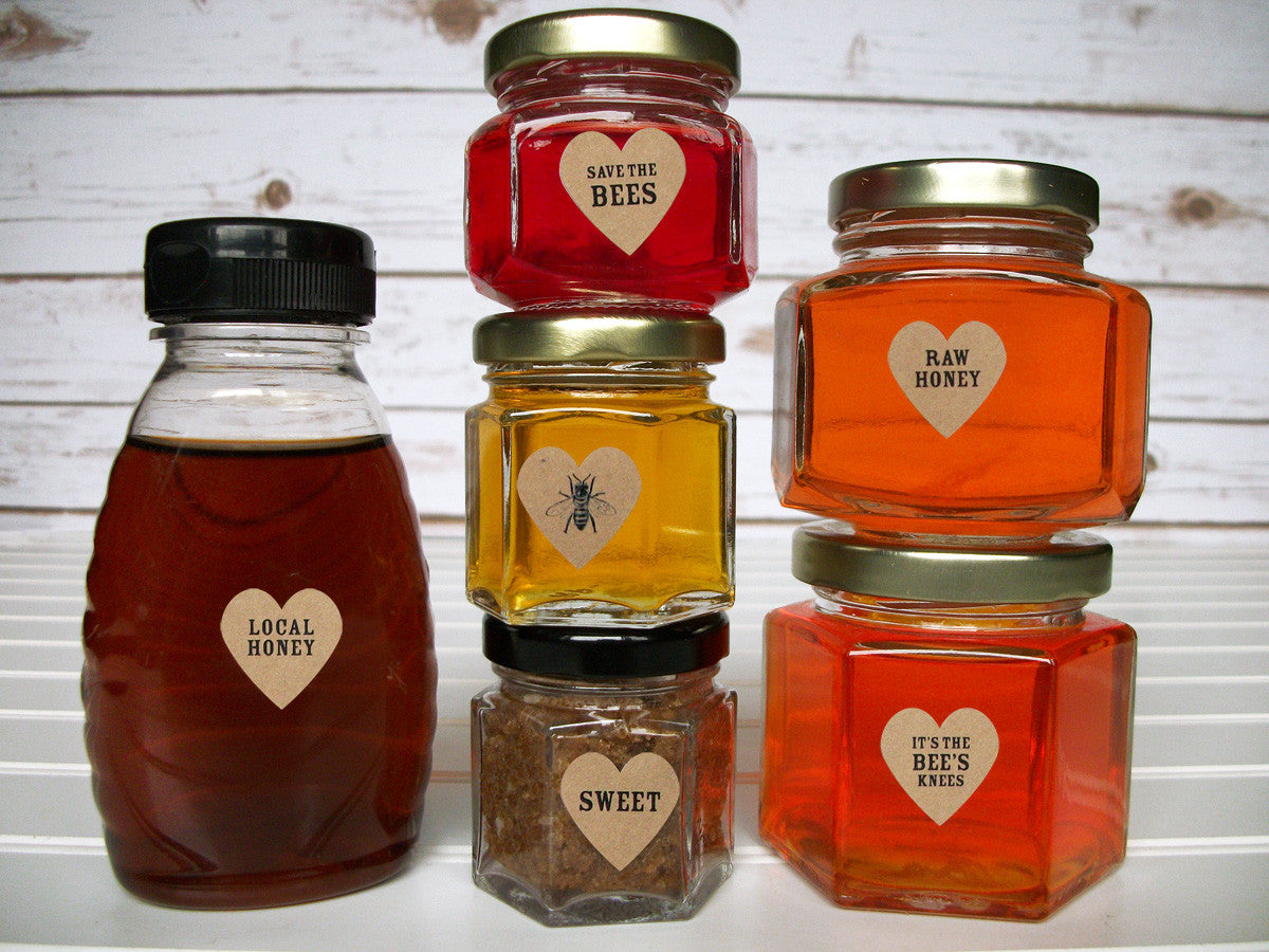 Local Raw Organic honey labels | CanningCrafts.com