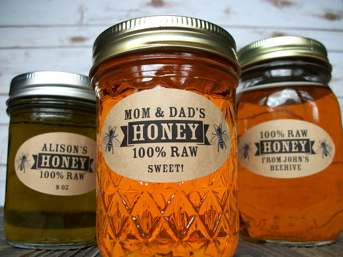 custom kraft honey labels | CanningCrafts.com