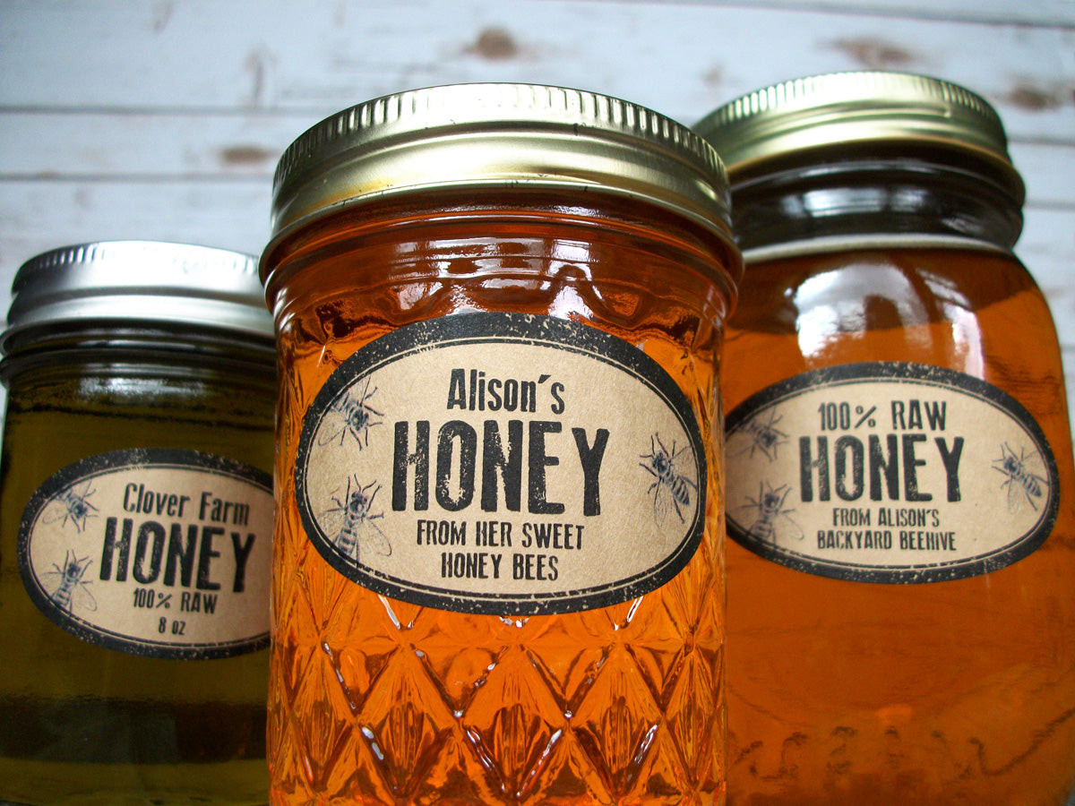 custom oval honey labels | CanningCrafts.com