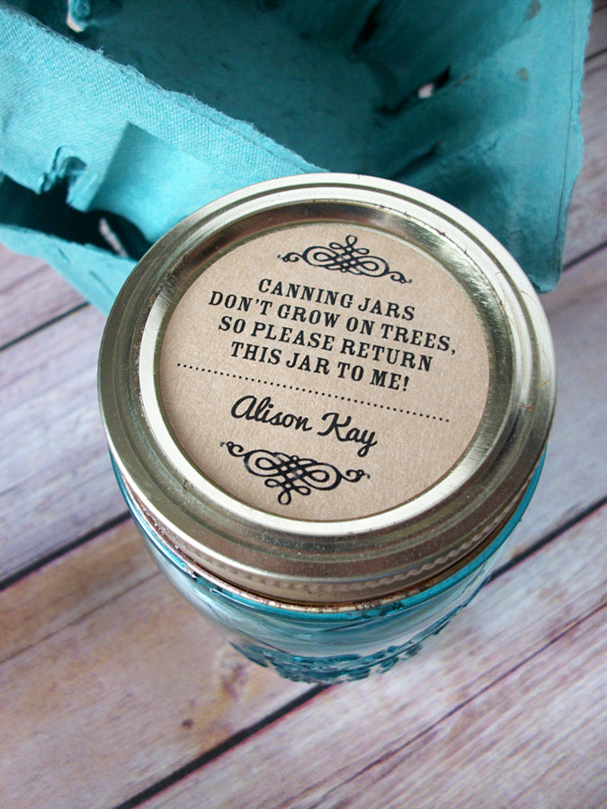 Kraft return jar canning labels | CanningCrafts.com