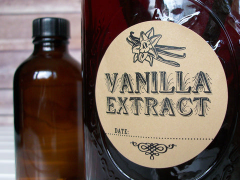 Kraft Vanilla Extract Labels | CanningCrafts.com