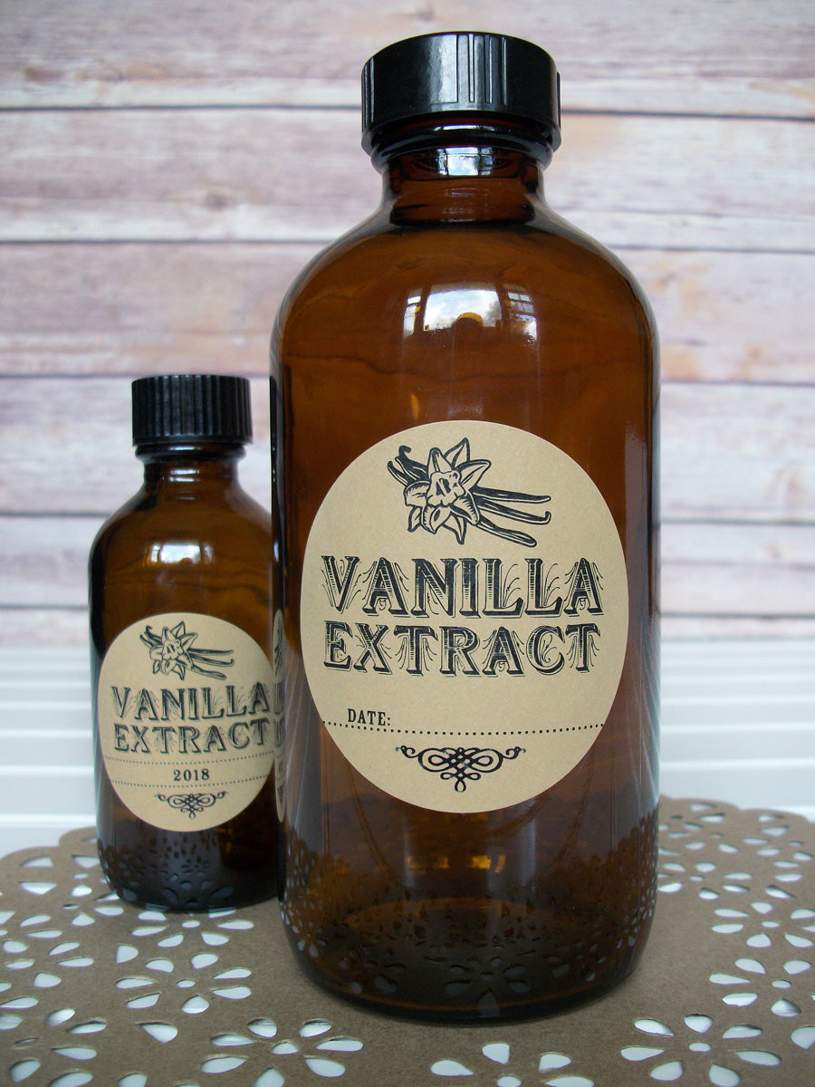 Kraft Vanilla Extract Bottle Labels | CanningCrafts.com