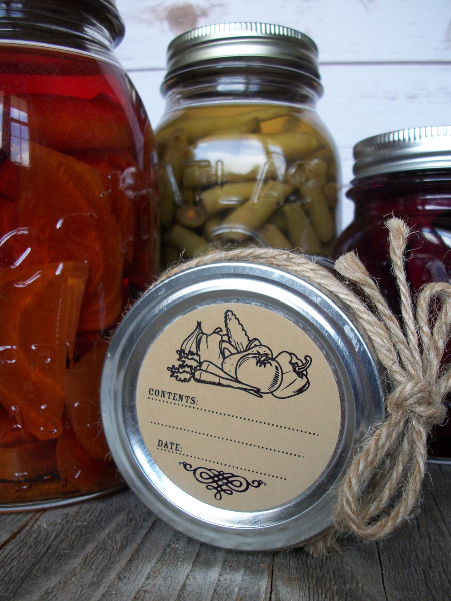 Kraft Vegetable Canning Labels | CanningCrafts.com