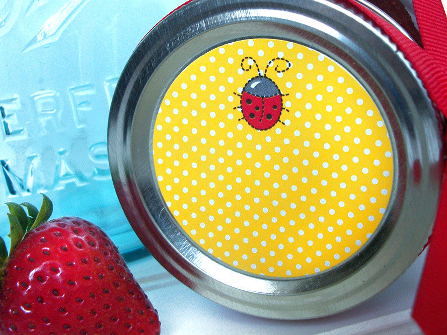 cute ladybug canning labels | CanningCrafts.com