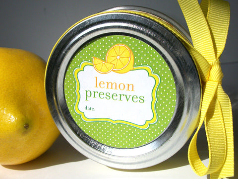Lemon Preserves Canning Labels | CanningCrafts.com