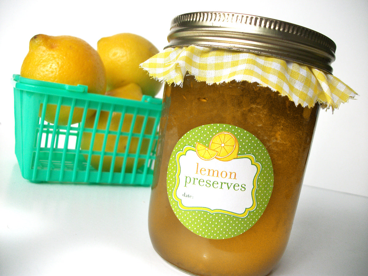Lemon Preserves Canning Jar Labels | CanningCrafts.com