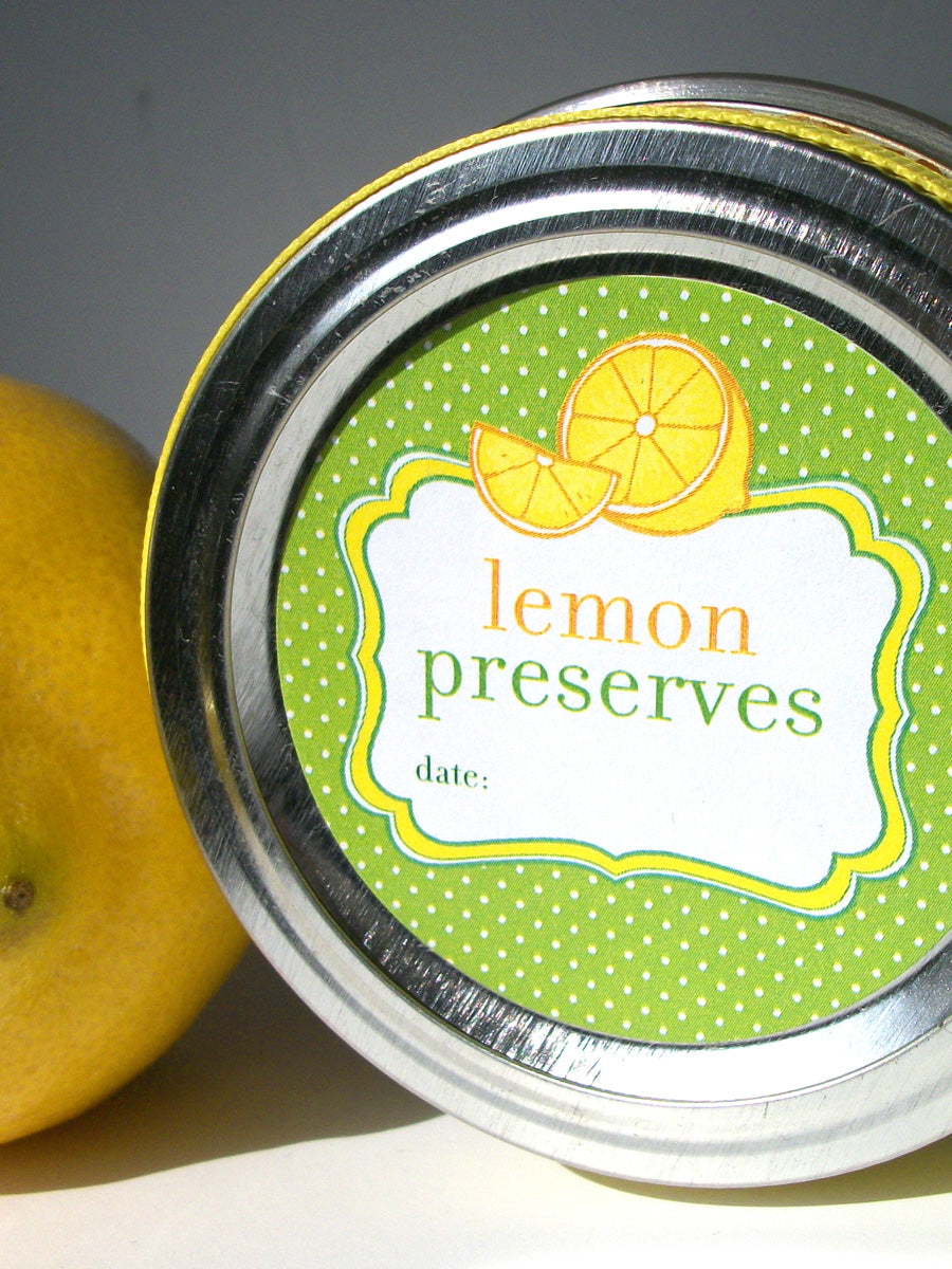 Lemon Preserves Canning Jar Stickers | CanningCrafts.com