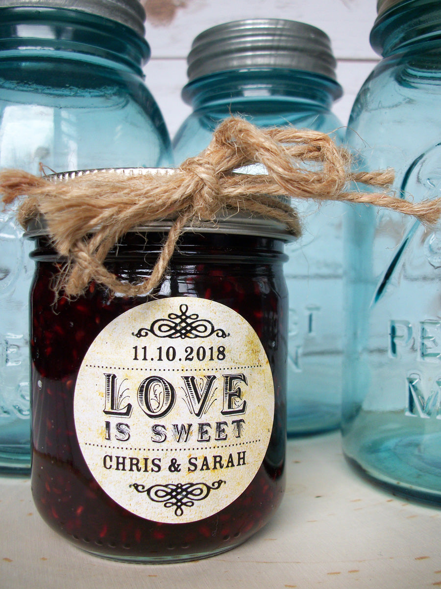 Love is Sweet Wedding Jam Jar Favor Label | CanningCrafts.com